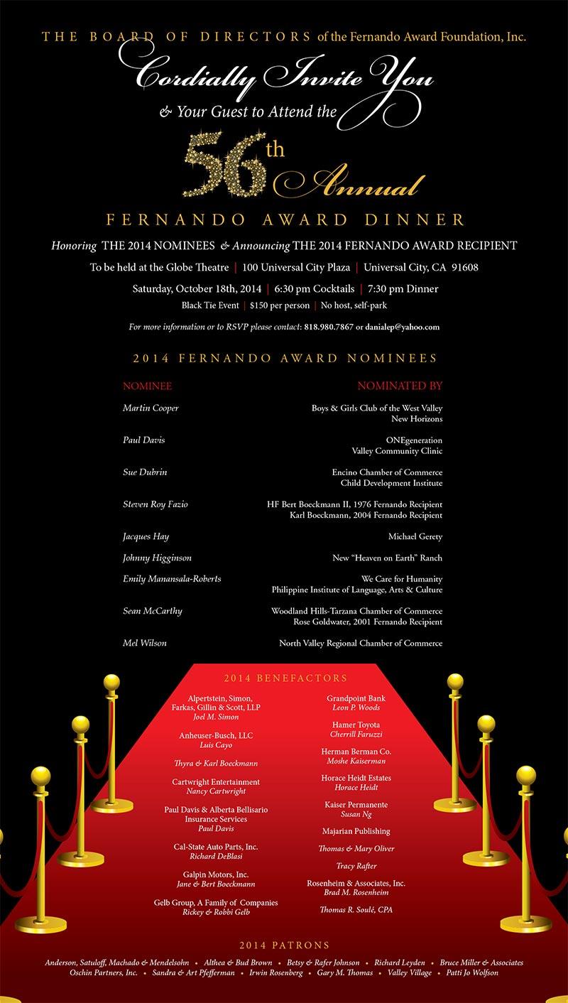 Fernando Award Invitarion