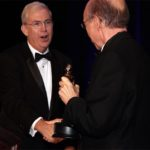 2018 Fernando Award Winner Bill Allen receiving award from 2017 Winner Paul Davis