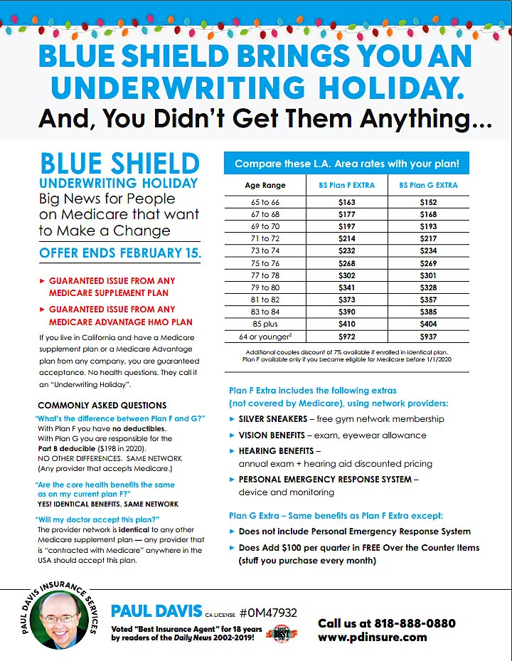 Blue Shield Medicare Supplement Offer