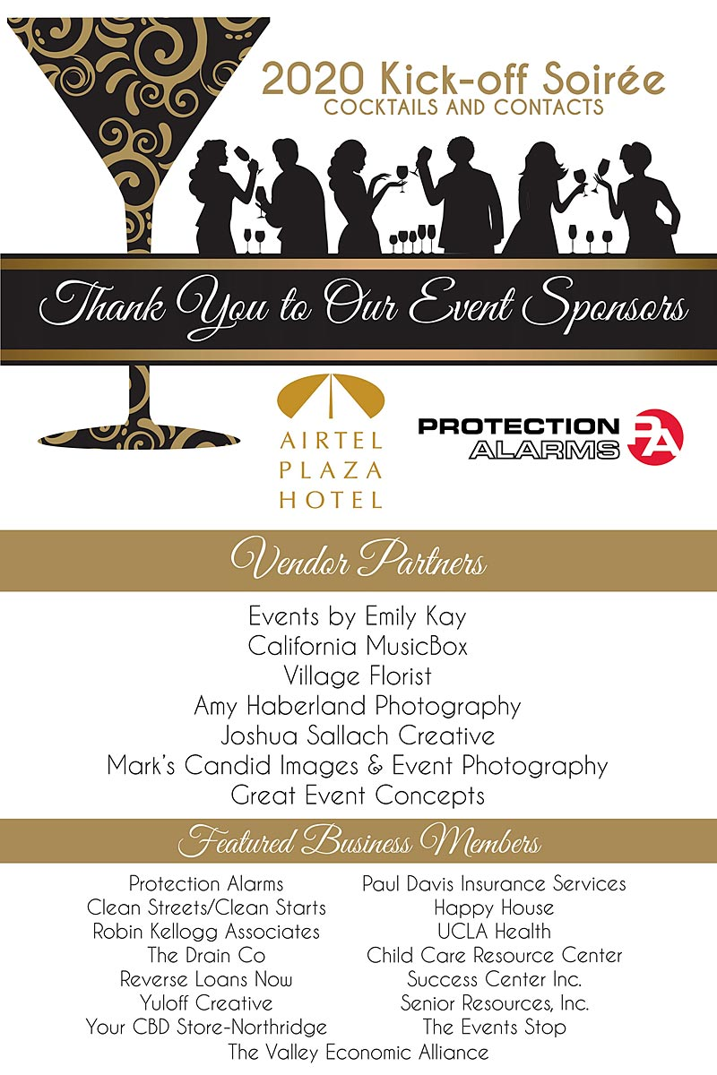 Northridge Chamber Soiree sponsors