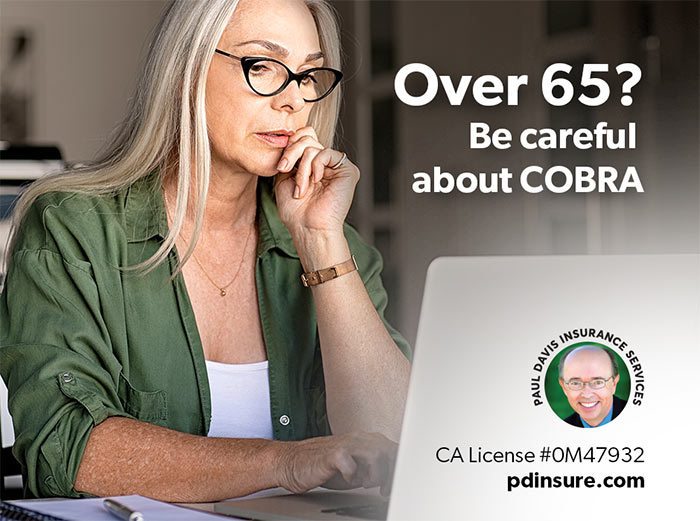 senior woman considering COBRA Coverage