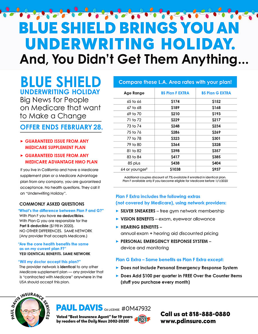 Blue Shield lets you switch to Medicare Supplement