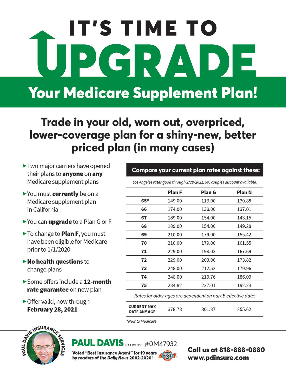 See the low rates when you upgrade your Medicare Supplement Plan